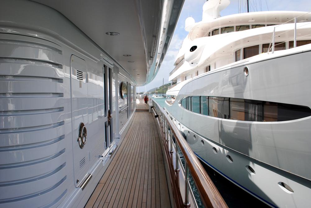 two yacht interior decks