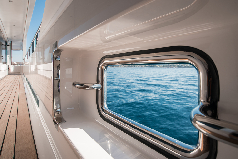 inside yacht with ocean view